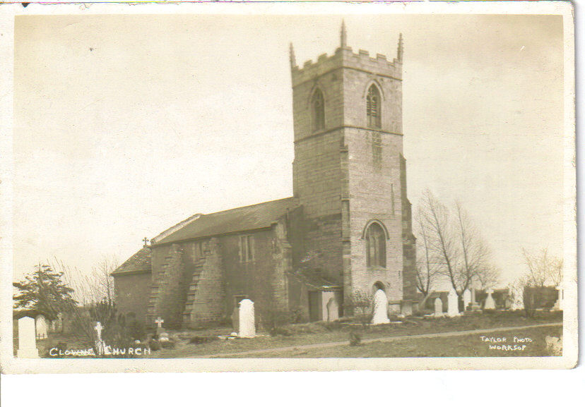 Clowne, Derbyshire postcard.